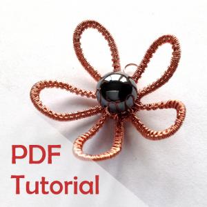 tutorial daisy pendant